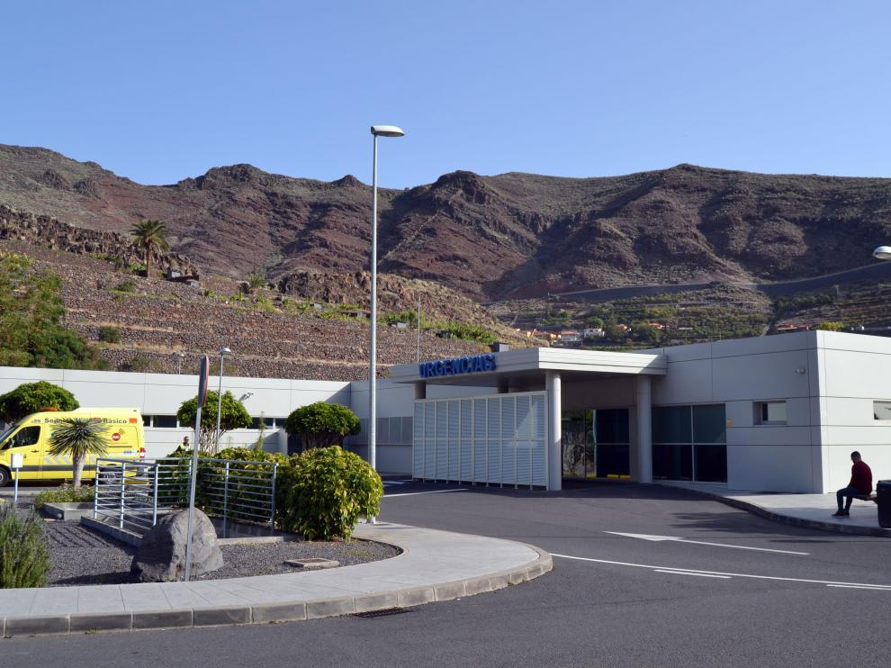 Imagen del hospital de La Gomera donde permanecen ingresados los cinco alemanes.