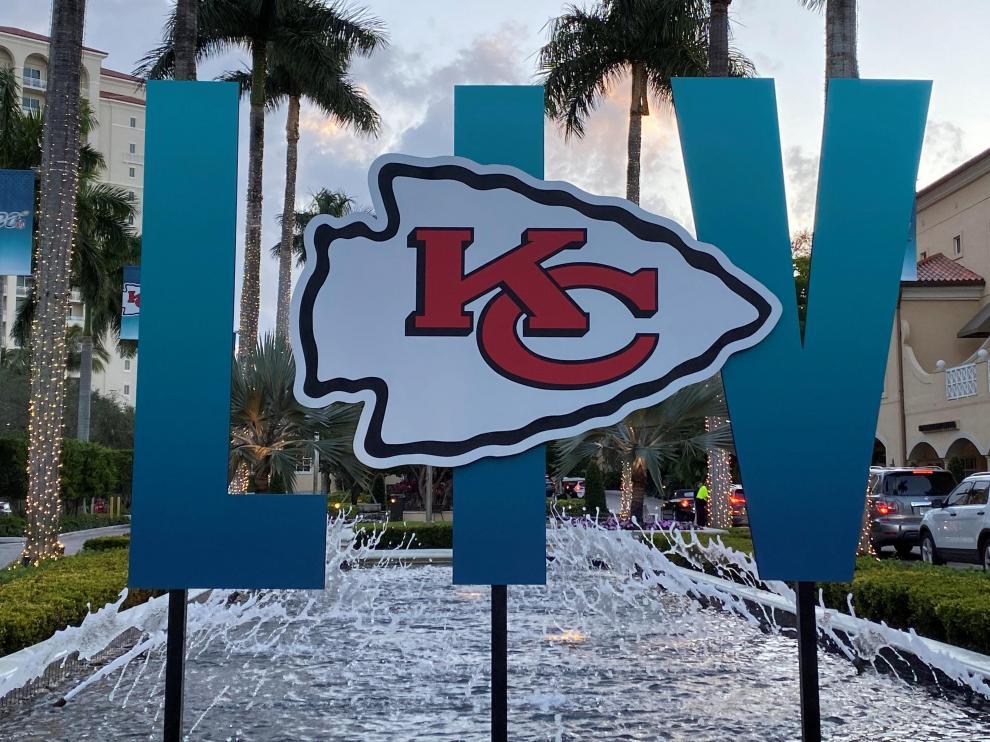 Todo preparado para la Super Bowl.