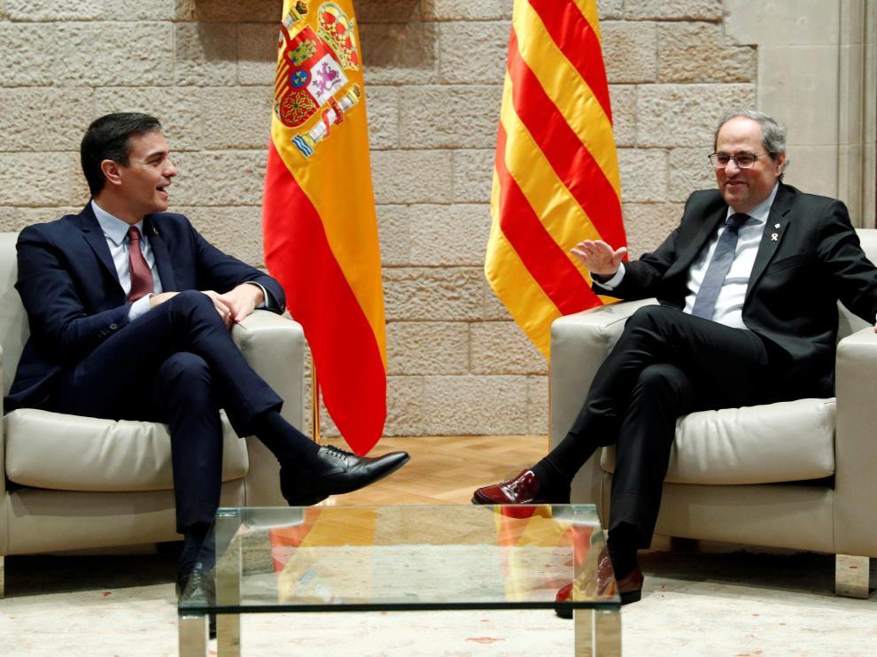 Reunión entre Torra y Sánchez.