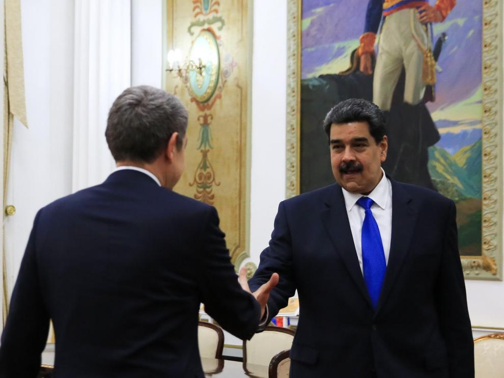 Nicolás Maduro recibe a Zapatero este viernes en Caracas.