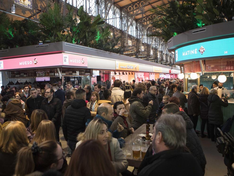 Gran afluencia de público en el primer fin de semana del nuevo Mercado Central