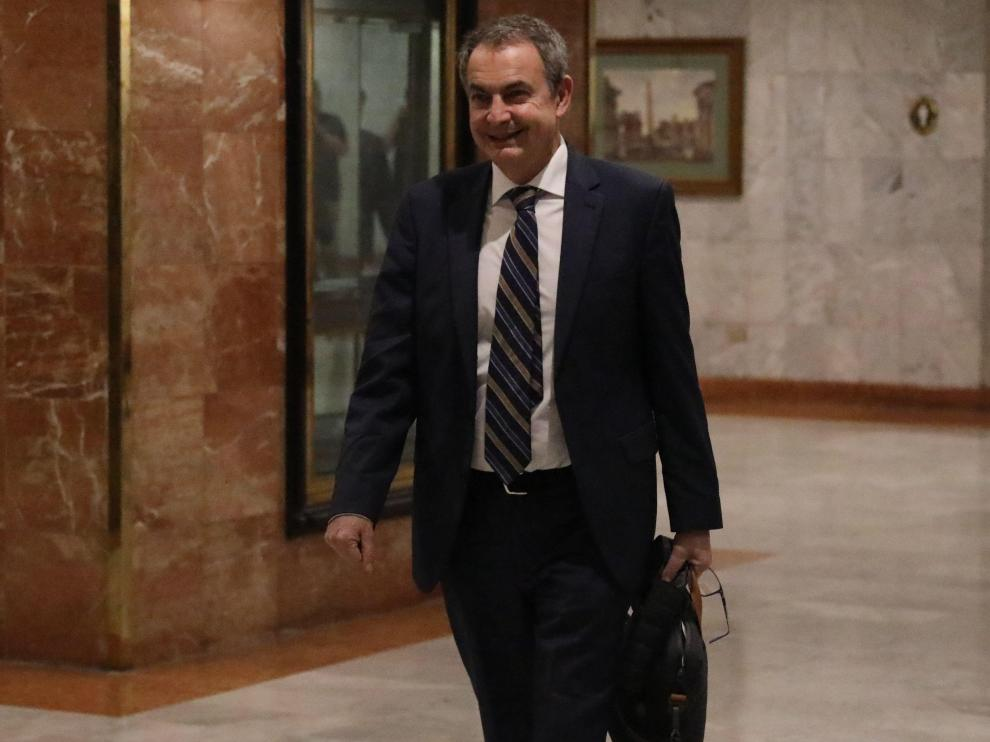 El expresidente Zapatero este sábado en Caracas.