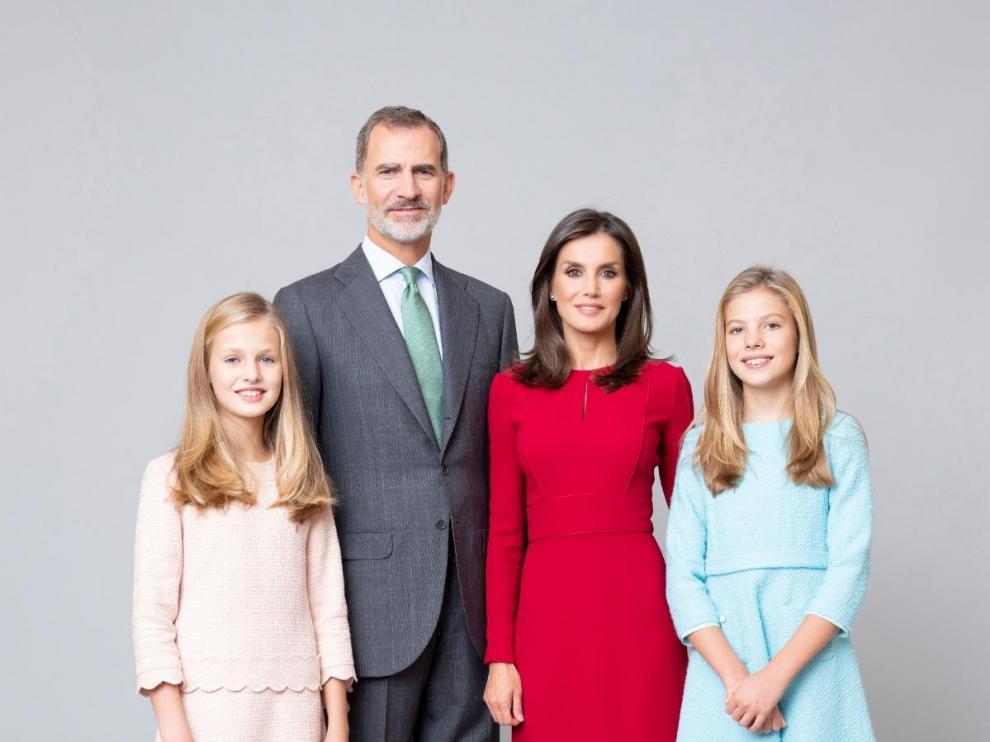 Nueva fotografía oficial de la Familia Real.