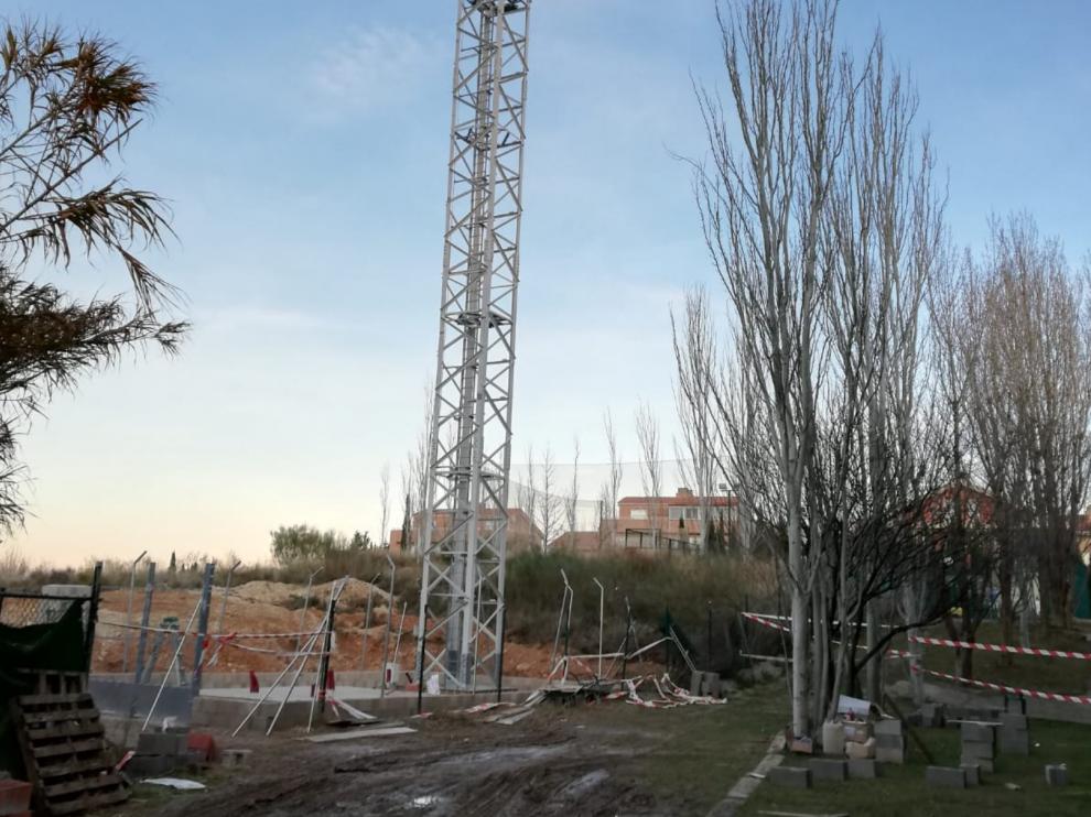 Lugar donde se pretende instalar la antena en Montecanal.