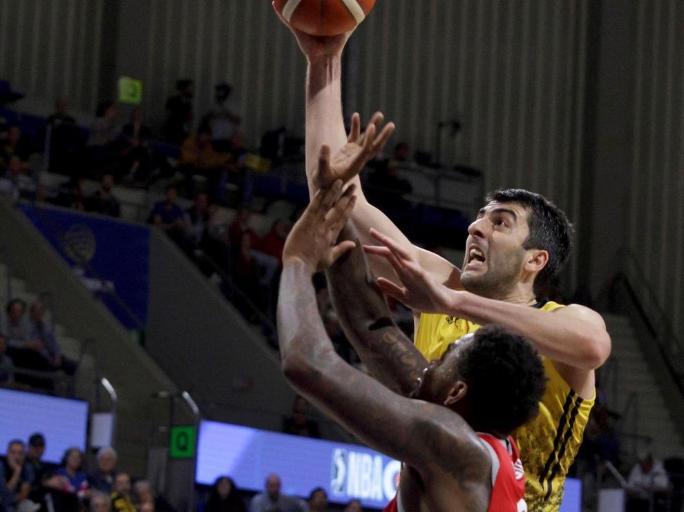Giorgi Shermadini, jugador del Iberostar Tenerife, será una de las estrellas que juegue en la Copa del Rey de baloncesto.