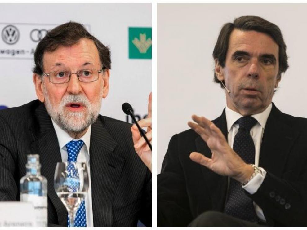Mariano Rajoy y José María Aznar