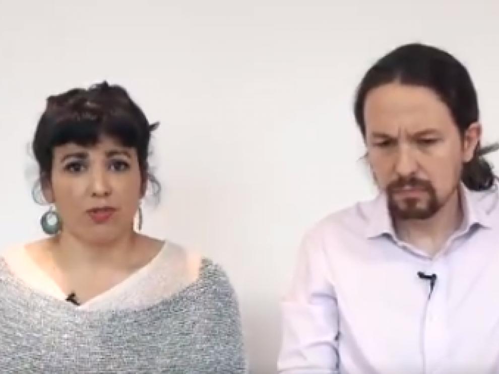 Captura del vídeo que han difundido.