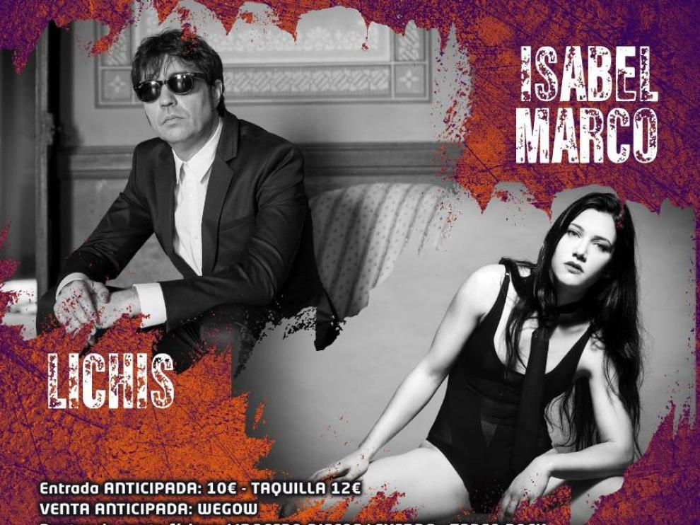Cartel de los conciertos de 'Voces alternativas' en Zaragoza