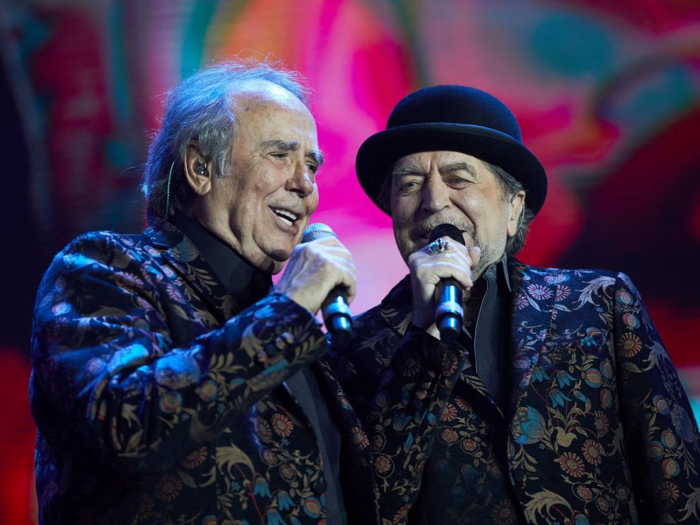 Joan Manuel Serrat y Joaquín Sabina en uno de sus últimos conciertos.