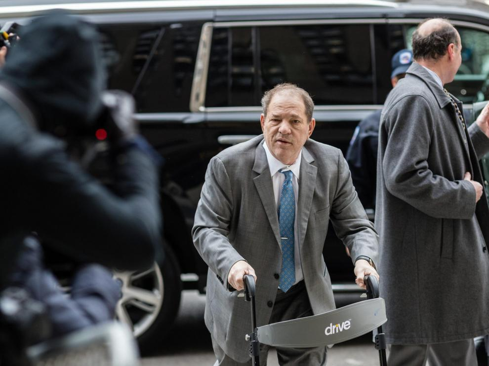 Film producer Harvey Weinstein arrives at New York Criminal Court for his sexual assault trial in the Manhattan borough of New York City, New York, U.S., February 18, 2020. REUTERS/Stefan Jeremiah [[[REUTERS VOCENTO]]] PEOPLE-HARVEY WEINSTEIN/