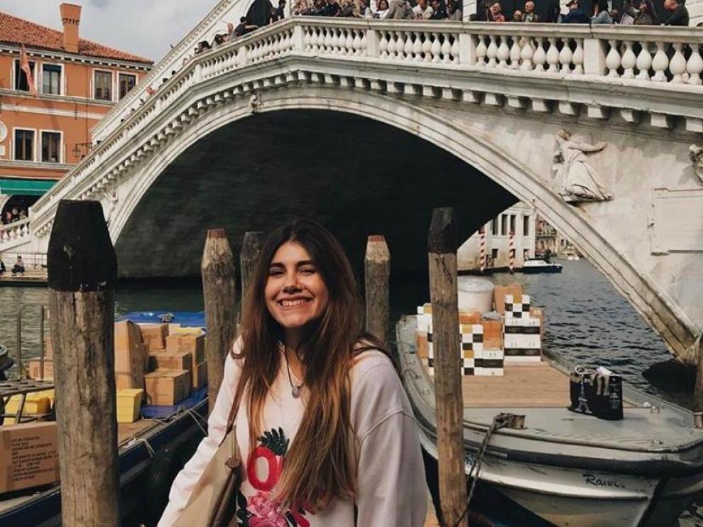 Belén, estudiante Erasmus en Venecia.