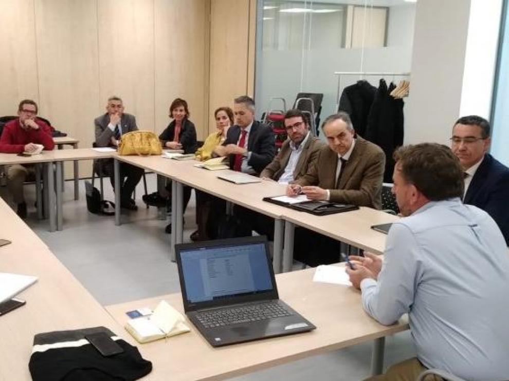 Reunión constitutiva de la comisión de renovables del Clúster de la Energía, el pasado viernes.