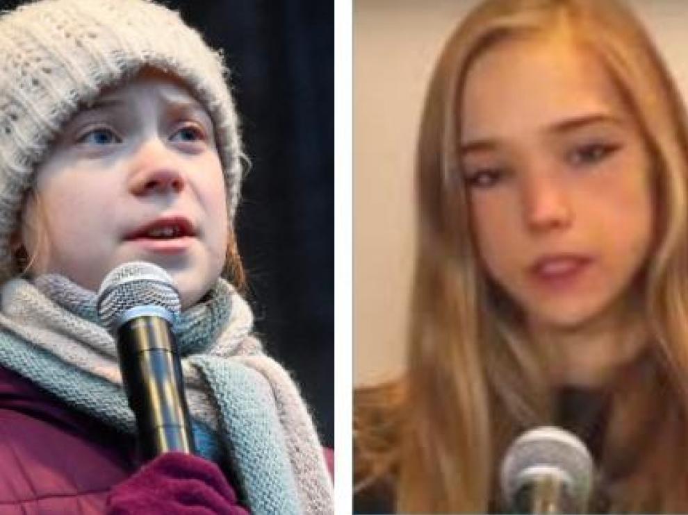Greta Thunberg y Naomi Seibt