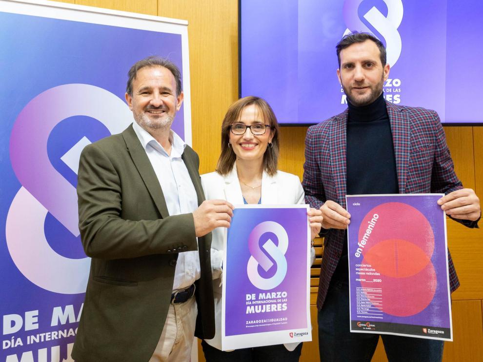 Presentación del Día Internacional de las Mujeres en el Ayuntamiento de Zaragoza
