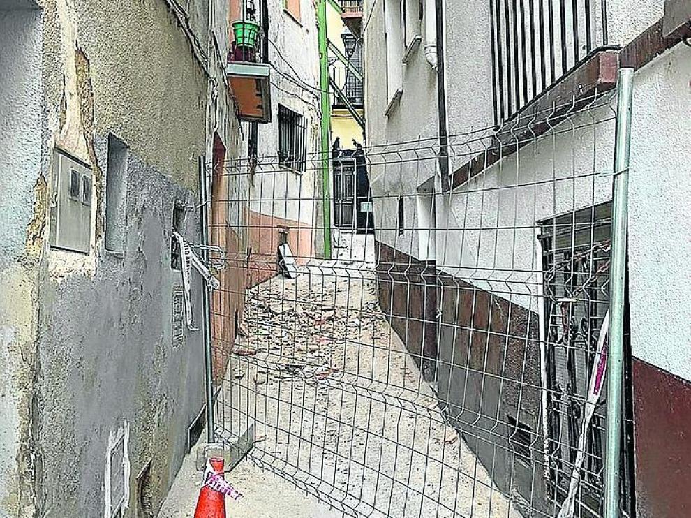 Estado actual de las viviendas afectadas por Gloria en Albalate del Arzobispo