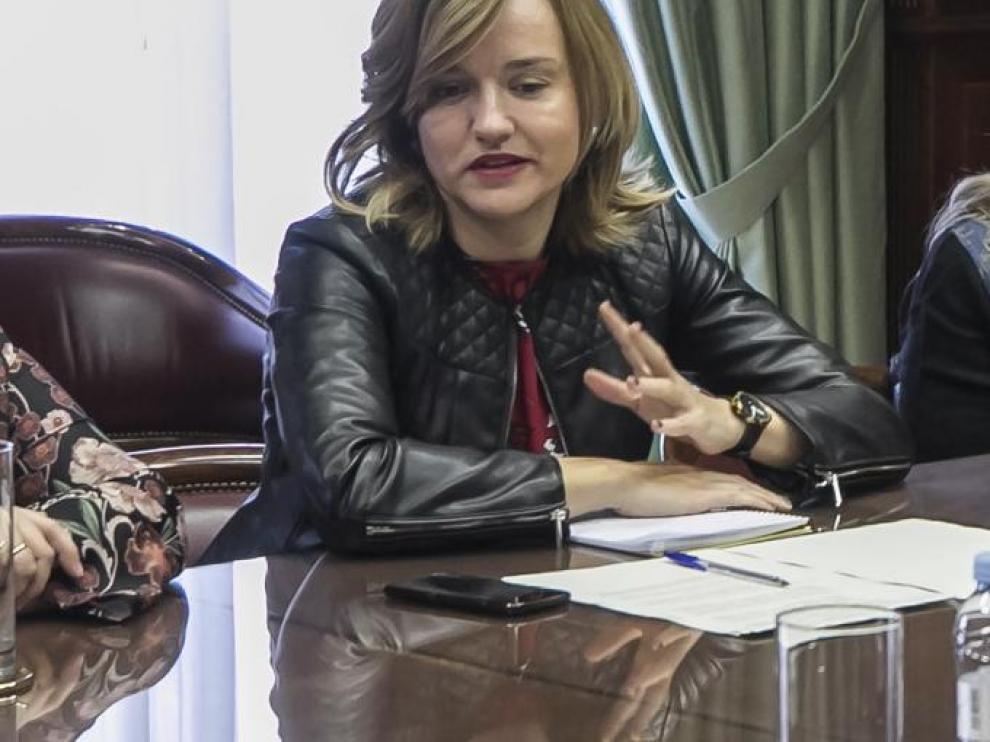 ARAGÓN. Delegación del Gobierno. Encuentro de la delegada del Gobierno, Pilar Alegría, con las principales investigadoras del CSIC en Aragón / 09-03-2020 / FOTO: GUILLERMO MESTRE [[[FOTOGRAFOS]]]