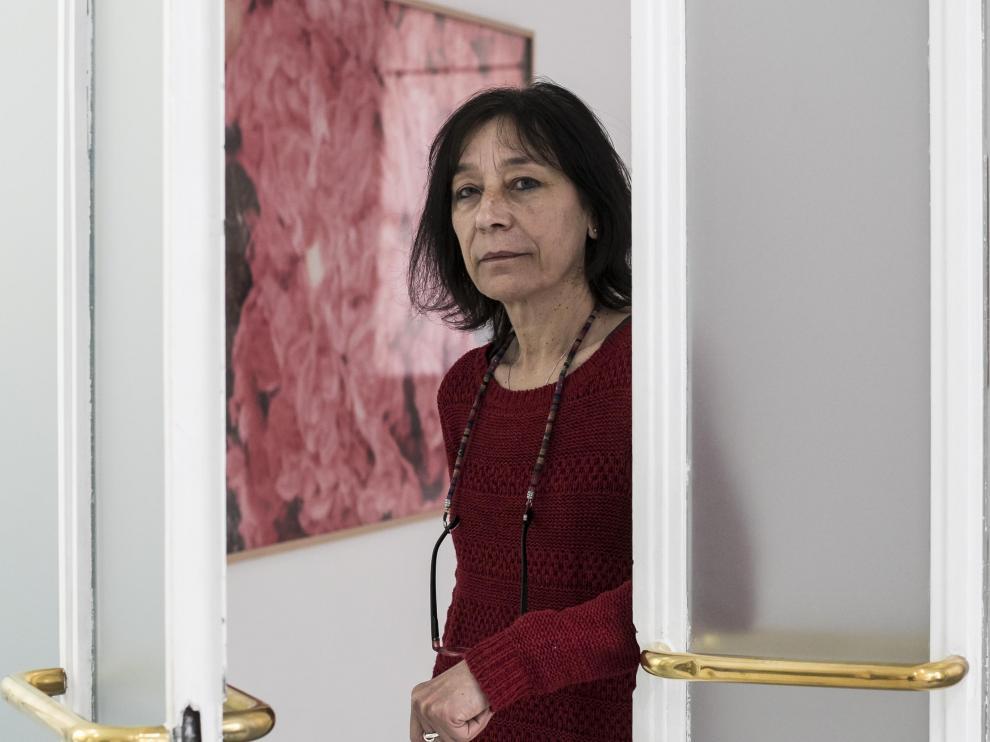 Adela Badía, trabajadora de la Casa de la Mujer, durante la crisis del coronavirus.
