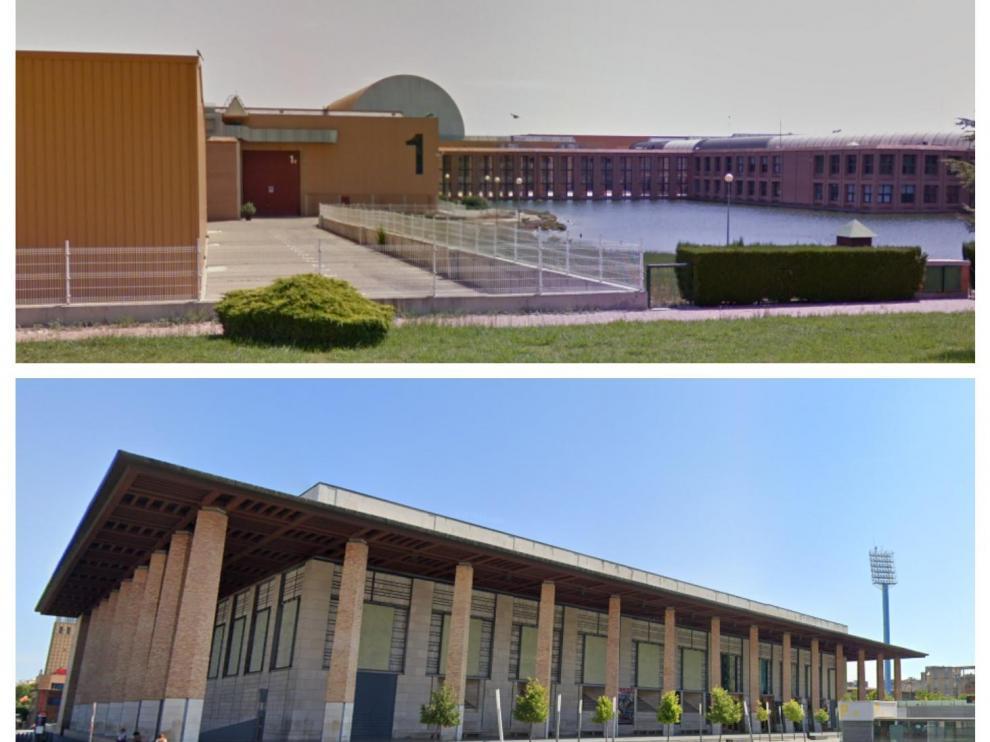 Combo de imágenes de la Feria de Zaragoza y el Auditorio de Zaragoza