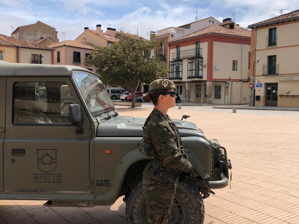 Despliegue de Pontoneros en Almazán para contener el coronavirus