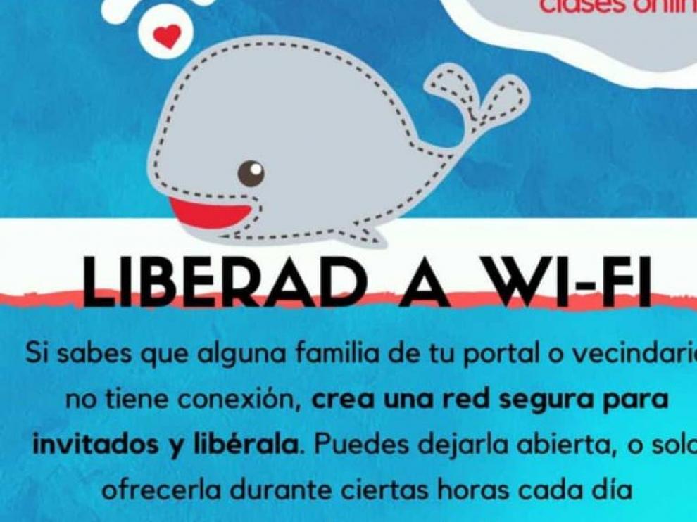 El cartel de la iniciativa 'Liberad a Wi-Fi'.