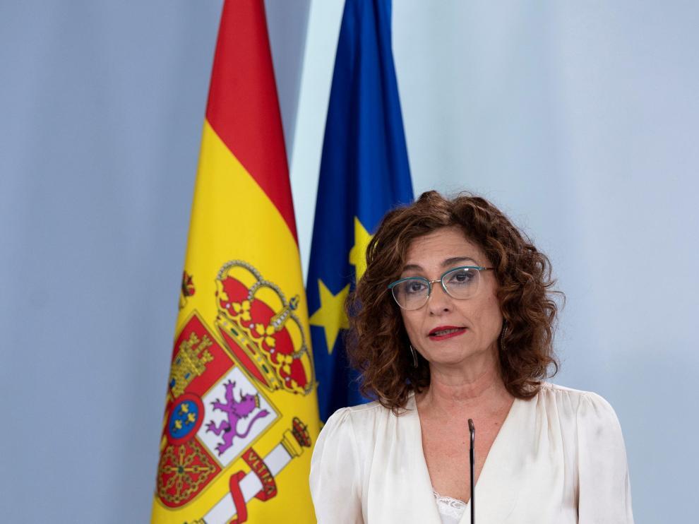 María Jesús Montero, ministra portavoz en rueda de prensa