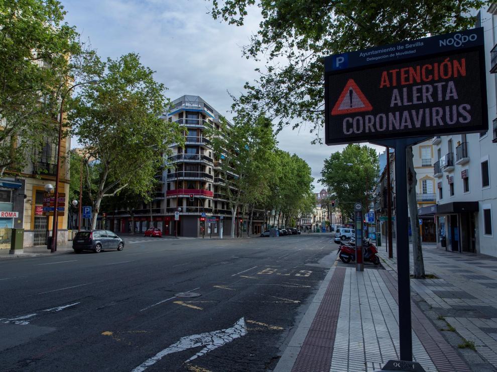 Sevilla, durante un atípico Domingo de Ramos.