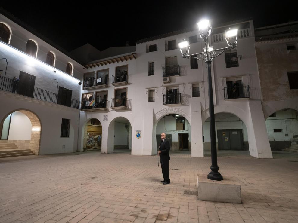 rompida de la hora desde los balcones en Hijar. foto Antonio garcia/Bykofoto. 09/04/20 [[[FOTOGRAFOS]]]