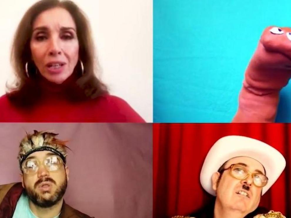 Captura del vídeo de 'Agapimú' con Ana Belén y Ojete Calor.