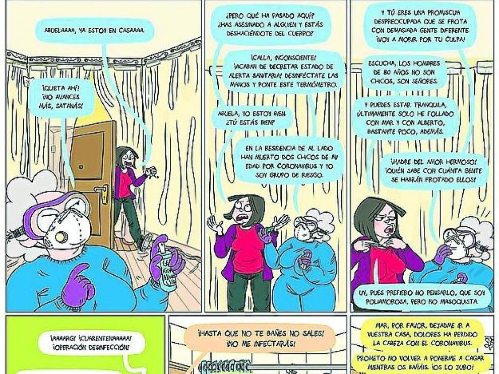 Cómic de Álvaro Ortiz (Zaragoza).