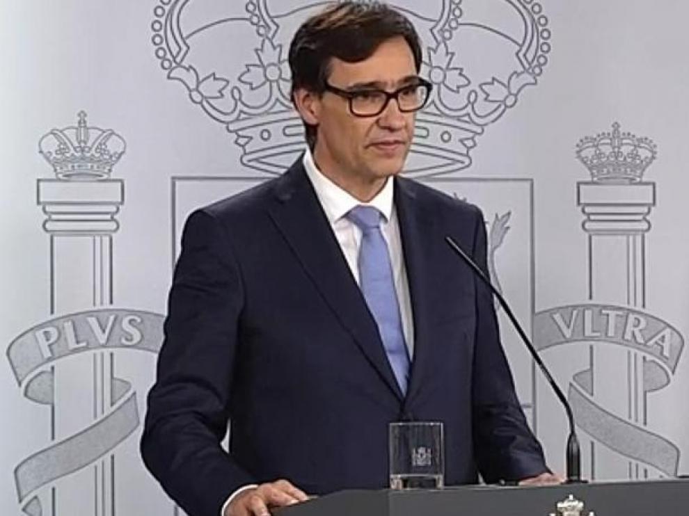 Salvador Illa, ministro de Sanidad del Gobierno de España.