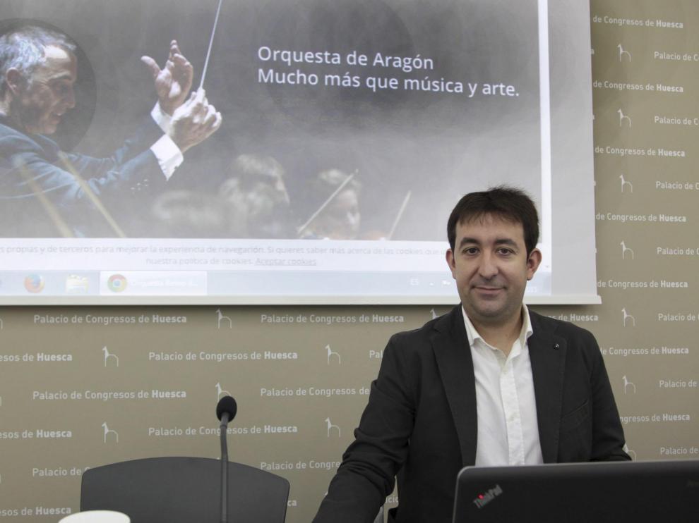 Sergio Guarné Escolano y la Orquesta Reino de Aragón.