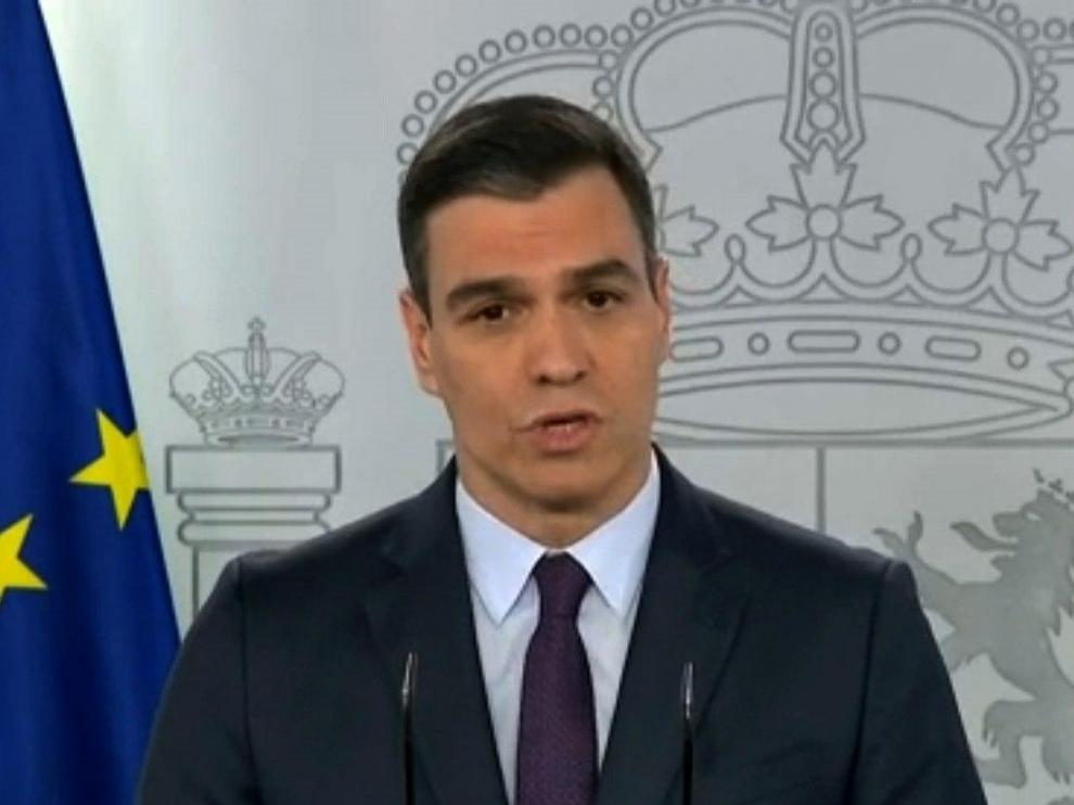 Comparecencia Pedro Sánchez en la Moncloa