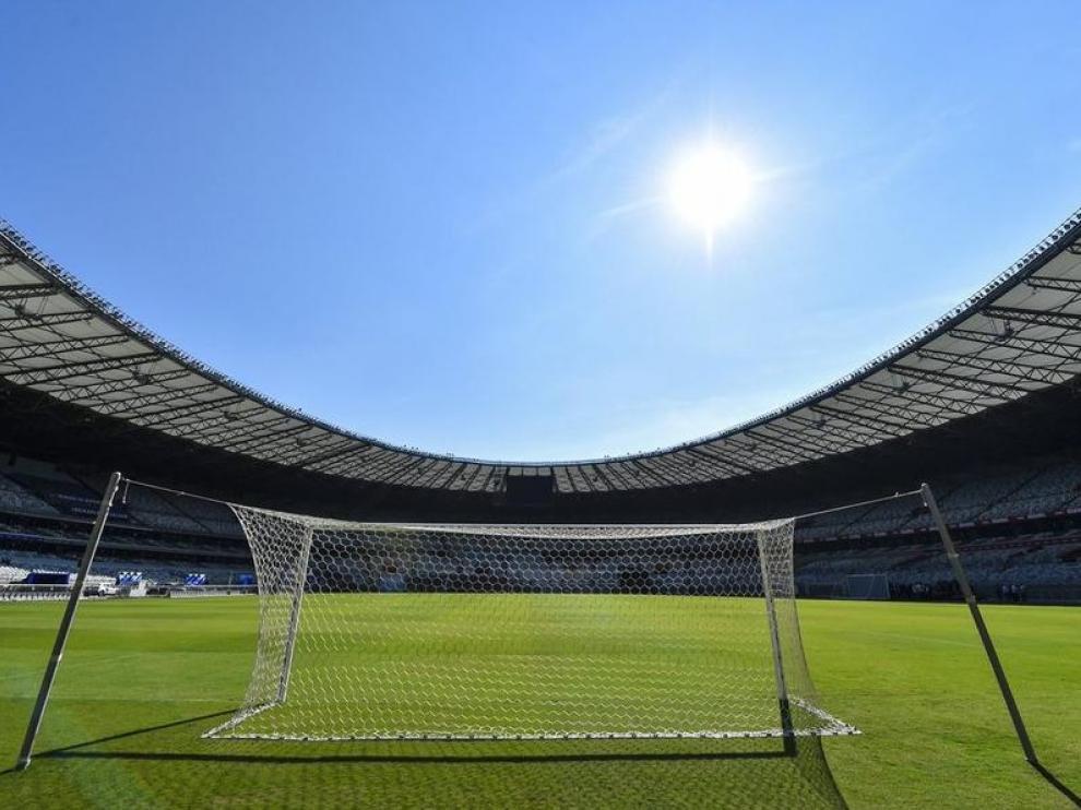 Imagen de un estadio vacío.