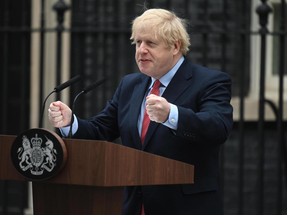 Comparecencia del primer ministro de Reino Unido, Boris Johnson