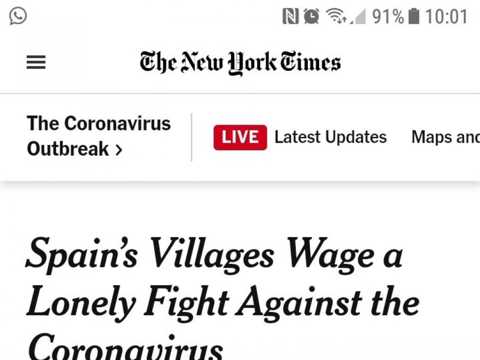 Información sobre Valderrobres publicada en The New York Times.