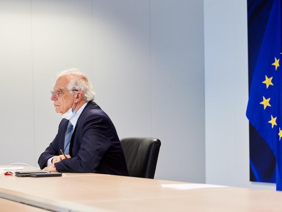 Josep Borrell el martes en una rueda de prensa en Bruselas.