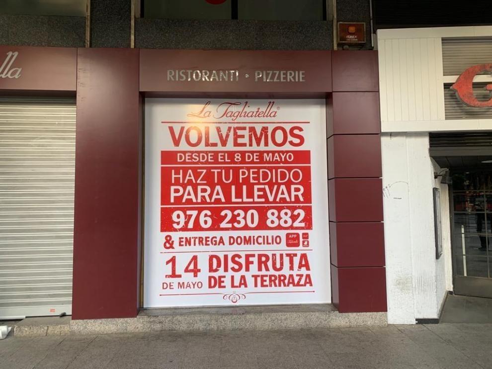 Los trabajos de desinfección del restaurante de plaza Aragón ya han comenzado.