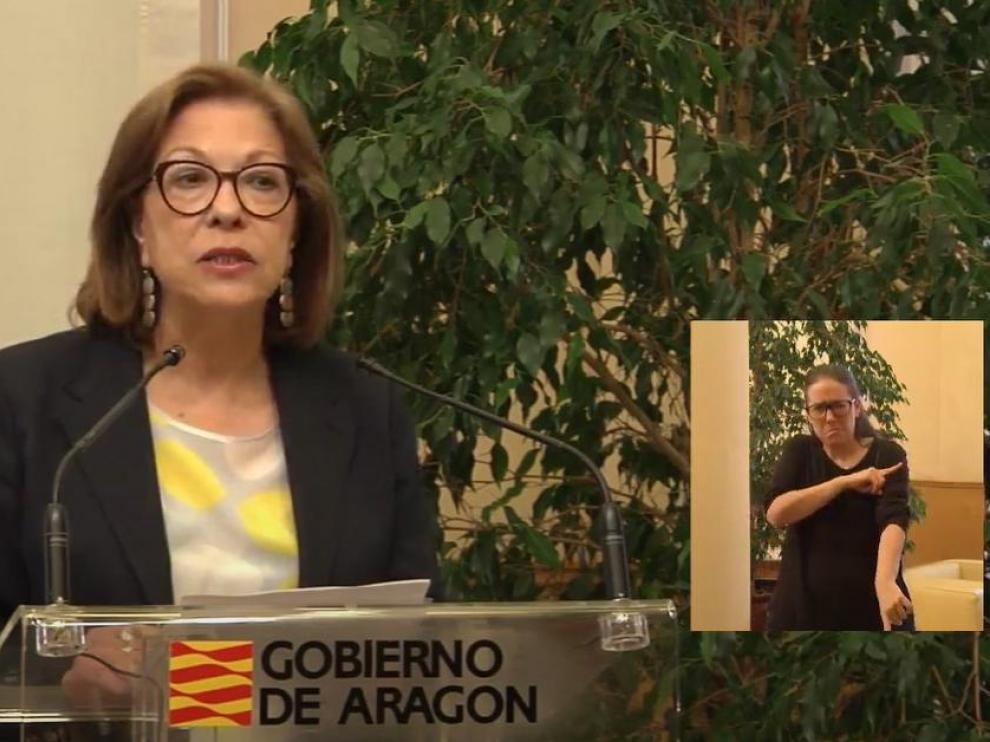 Pilar Ventura dimite como consejera de Salud del Gobierno de Aragón