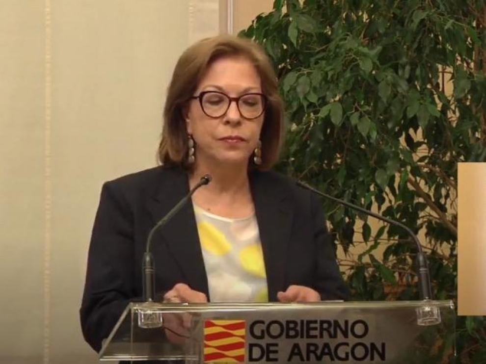 Pilar Ventura dimite como consejera de Sanidad del Gobierno de Aragón,