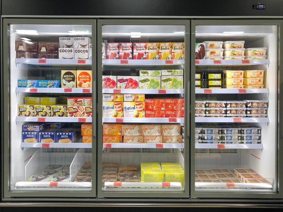 Lineal de helados de Mercadona
