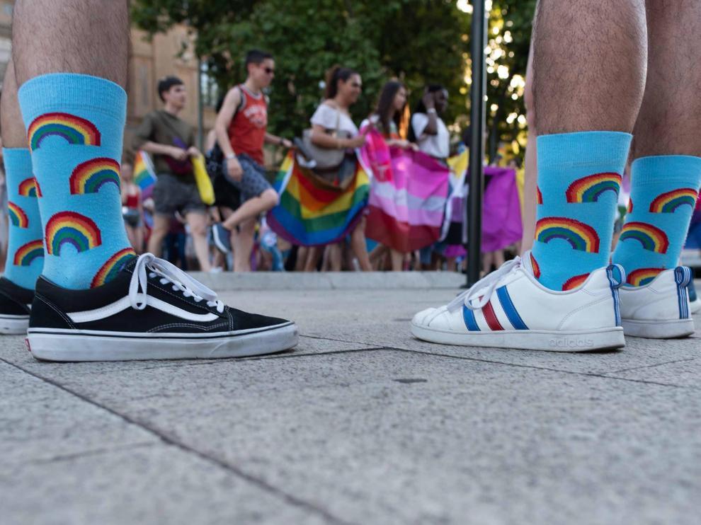 Manifestación del Orgullo Gay en junio del año pasado en Zaragoza.