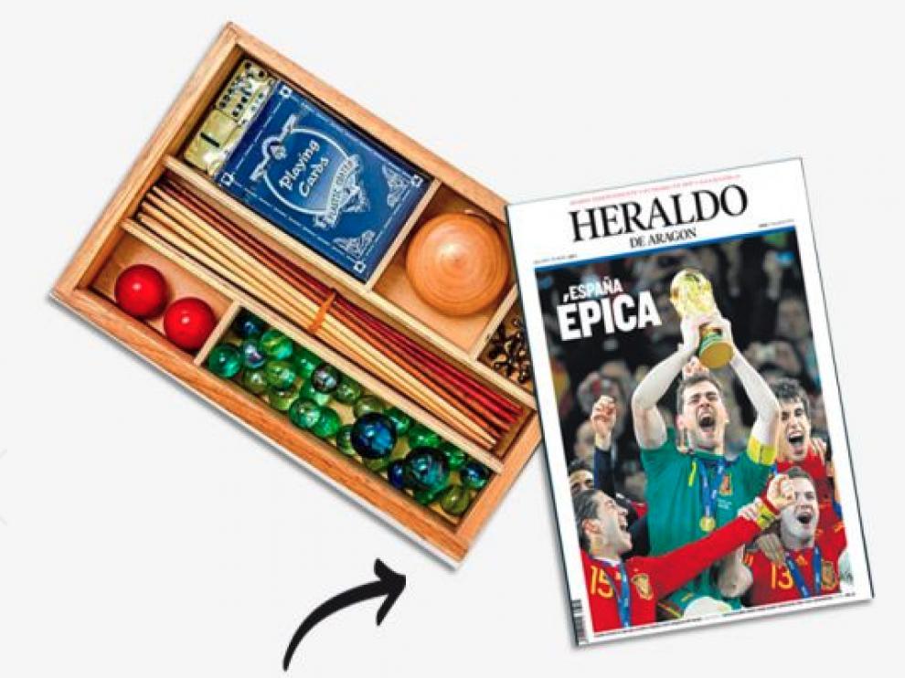 Heraldo sortea una caja personalizada con juegos clásicos.