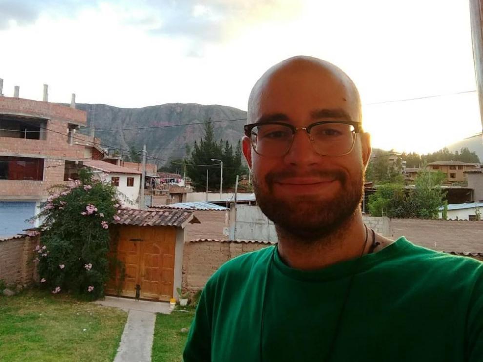Juan Suñer, zaragozano de 24 años, atrapado en Perú.