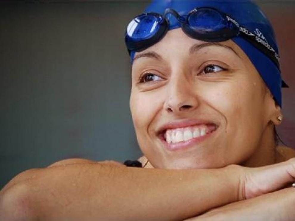 La nadadora paralímpica aragonesa Teresa Perales
