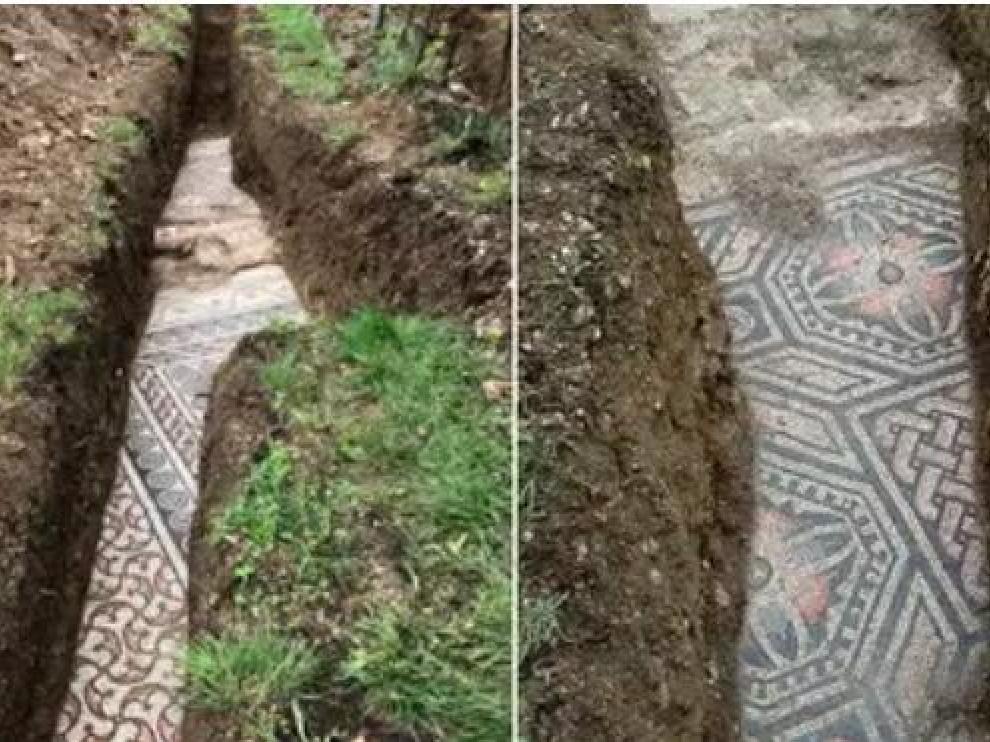 Parte de los mosaicos encontrados.