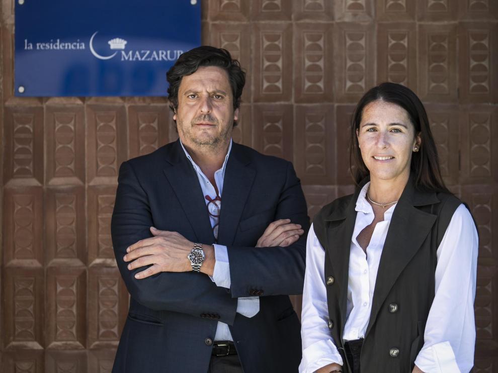David Marco y Beatriz Machín en la residencia Mazaruba.