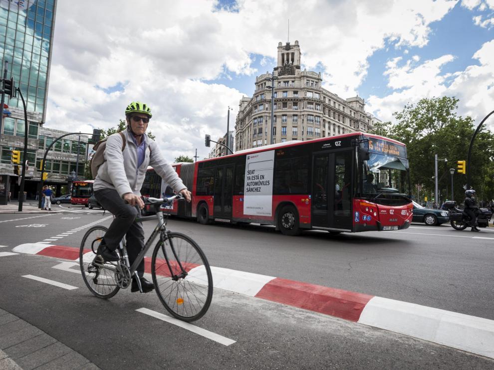 Zaragoza será la primera gran ciudad española en garantizar el 100% de desplazamientos ciclistas por carriles bici o por vías pacificadas