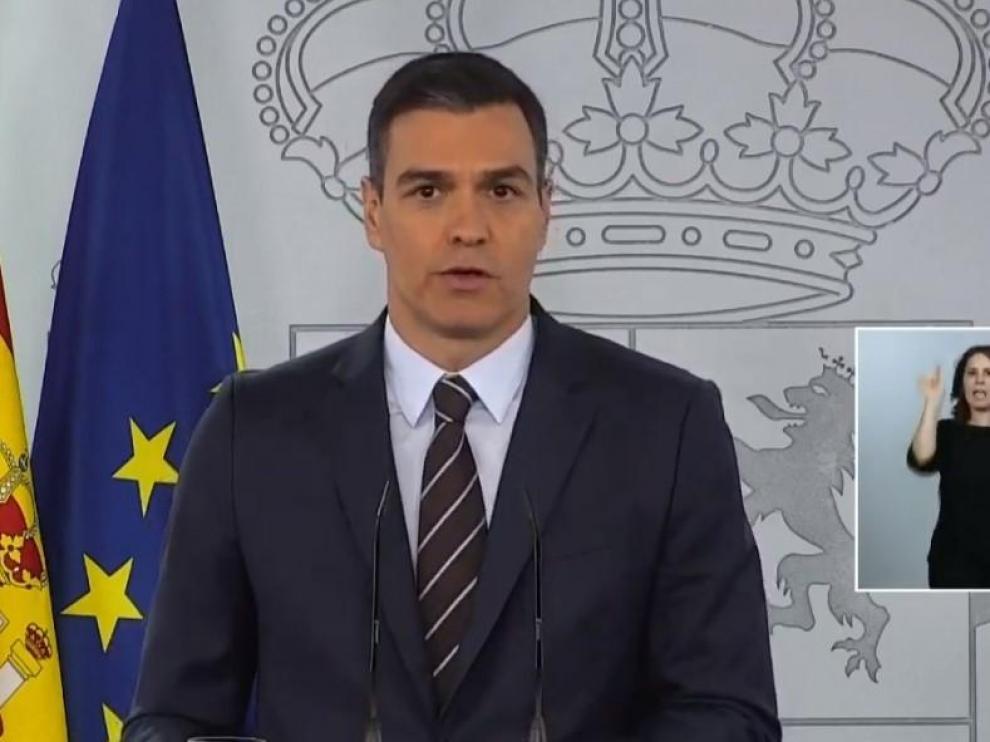 Pedro Sánchez, en su comparecencia de este domingo