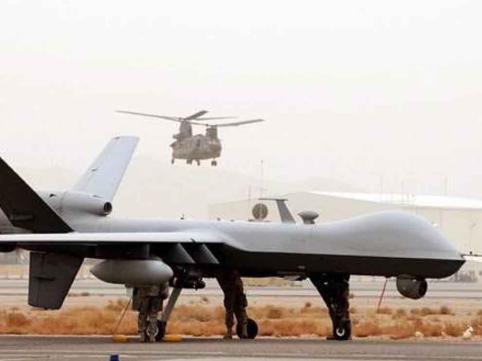 UAV Reaper de la Fuerza Aérea británica desplegado en Afganistán.