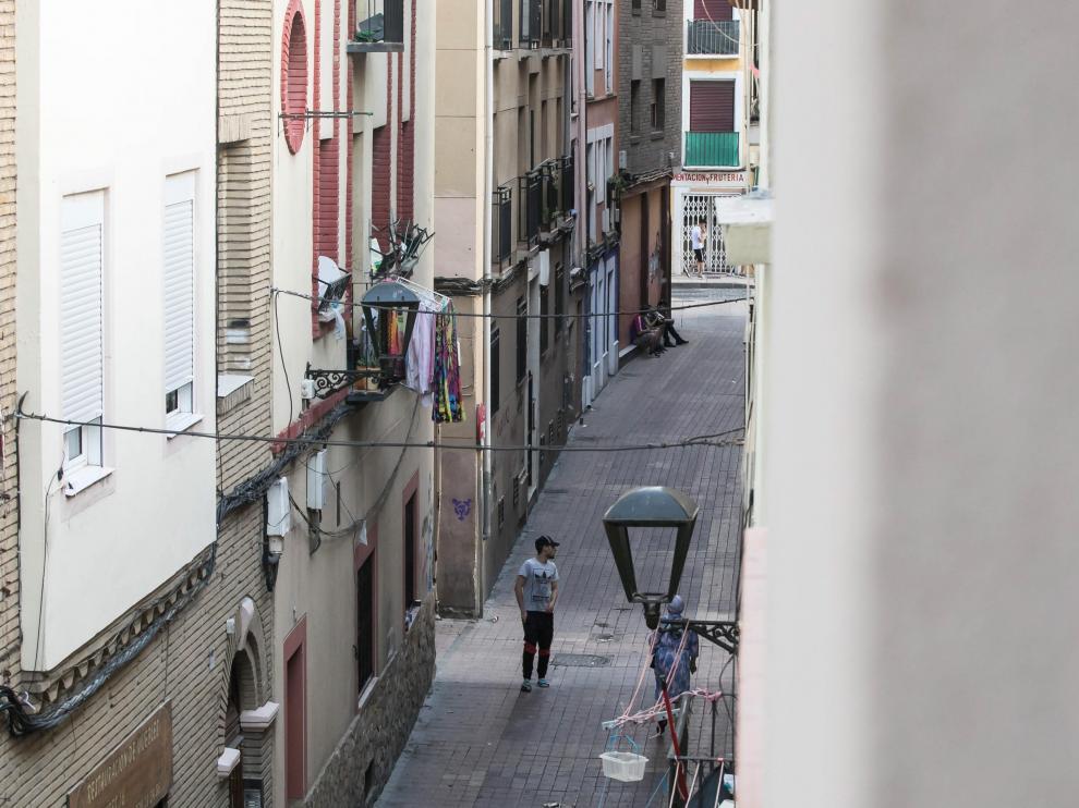 La calle Aguadores, en la esquina del cruce con San Pablo.